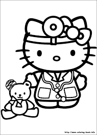 Small Picture Hello Kitty coloring picture Coloring Pages Pinterest Hello
