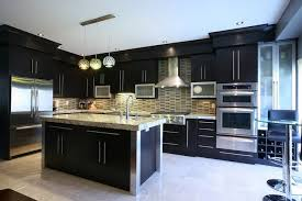 kitchen designs dark cabinets. Contemporary Designs Good Kitchen Design Layouts With Dark Cabinets And Oval Glass Pendant Light  Above White Spring Granite Countertops Also Using Small Backsplash Tiles Plus  Designs