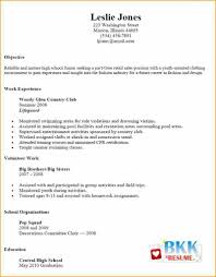012 Part Time Job Resume Template Examples For First With Noerience
