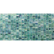 breeze caribbean ocean stained glass mosaic floor and wall tile 3 in x 6