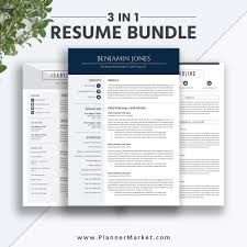 Professional And Irresistible Ms Word Resume Bundle Curriculum Vitae For Digital Download To Help You Land Your Dream Job The Benjamin Resume