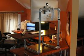 37 diy standing desks built with pipe and kee klamp simplified decoration in diy standing desk pipe