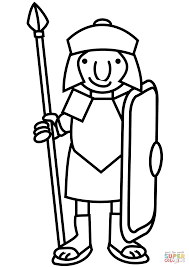 Printable Images Of Roman Soldiers Coloring Picture Soldier