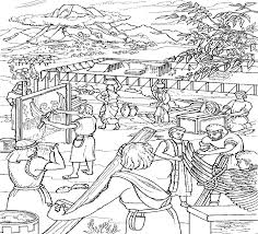 Moses And The Israelites Build The Tabernacle Coloring Page This
