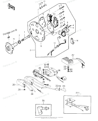 Kawasaki motorcycle 1978 oem parts diagram for ignition regulator