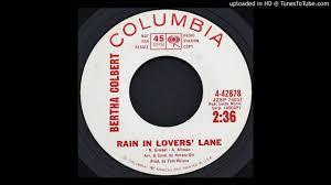 Bertha Colbert - Rain in Lovers' Lane - 1963 R&B Vocals - YouTube