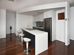 Kitchen, Small Galley Kitchen Design Layouts Red Dining Chairs Laminate  Mahogany Wood Flooring White Metal