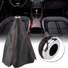 1pcs carbon leather gear manual shift knob shifter boot cover gaiter universal shift knobs boots
