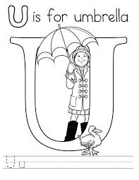 Small Picture Letter U is for Umbrella Coloring Page Preschool Kids Letter U is