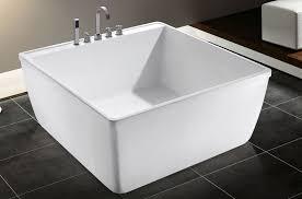 Attractive Small Acrylic Bathtub Korea Small Size Square Bath Tub Portable  Acrylic Bathtub For