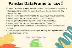 pandas to csv convert dataframe to