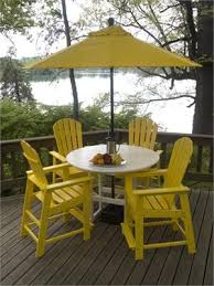 yellow patio furniture. Poly Wood South Beach Counter Height Patio Set Yellow Furniture O