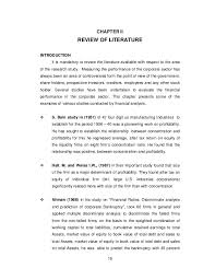 Literature review on financial performance using ratio analysis   Google  Docs