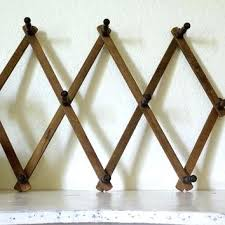Expandable Wooden Coat Rack Best Wooden Peg Coat Rack Vintage Accordion Rack Vintage Wood Peg Rack
