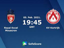 Royal Excel Mouscron KV Kortrijk Live Ticker und Live Stream - SofaScore