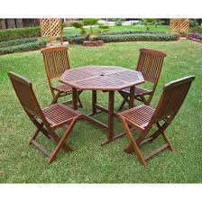 Highland 5Piece Wood Patio Dining Furniture Set
