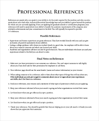 8 Professional Reference Samples Sample Templates