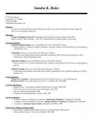 Graduate Nurse Resume Example Topic Related To New Grad Nursing