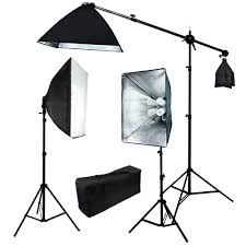 the 2000w 3 softbox boom stand continuous lighting kit
