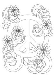 Small Picture Peace Sign Coloring Pages Flower Power Coloring Page Fantasy Jr