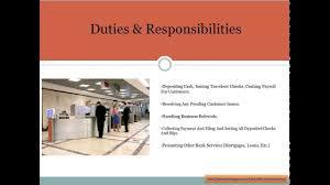 Ravishing Teller Duties Bank Job Description Youtube Resume Job