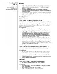 Medical Technologist Resume Resumes Example Cv Examples Free
