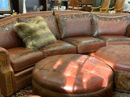 leather sectional ottomans