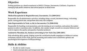 Dental Receptionist Sample Resume Contoh Skripsi Mind Mapping