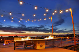 outside deck lighting. outdoor deck lighting with concrete fire pit tables modern and outside a