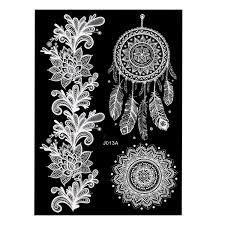 мехенди тату 7 белые переводные татуировки купить в подаркиру