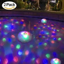 Baby Bath Disco Lights Amazon Com Meedoo 2 Pack Swimming Pool Lights Floating