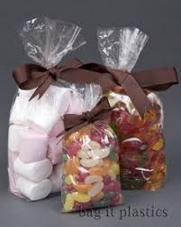 100 clear cellophane sweet party gift bags 3 x 1 5 x 7 5