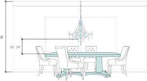 dining room chandelier height over table hanging he