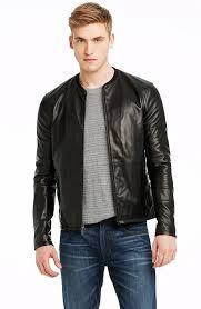 armani exchange men s coats jackets a x leather biker