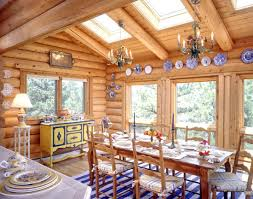 natural lighting in homes. Log Home Dining Room | Sky Lights Natural Lighting In Homes