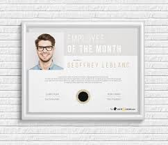 Employee Of The Month Award Employee Of The Month Award With Picture Certifreecates