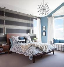 wall lighting bedroom. Bedroom, Accent Wall Color Combinations Two Chrome Table Lights Flower Pattern Rug Solid Dark Brown Lighting Bedroom