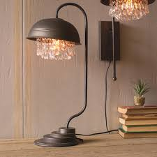 metal table lamp contemporary w crystals cll1232 with 14