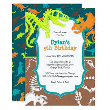 Dinosaur Birthday Invitation Dinosaur Dig Birthday Party Invitation Zazzle Com