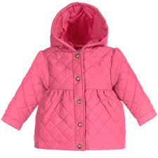 Ralph Lauren - Baby Girls Pink Quilted Coat | Childrensalon &  Adamdwight.com