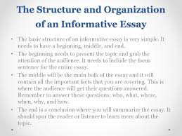 introducing essay and informative writing ppt video online the structure and organization of an informative essay