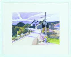 pamet river road edward hopper 1934 watercolor evansville museum of