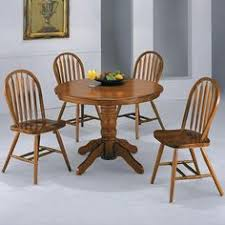 oak veneer 5 piece dinette 399 00 table 42 dia x 30 h chair