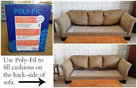 easy inexpensive saggy couch solutions diy makeover love for restuff sofa cushions ideas 0