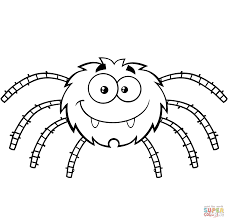 Small Picture Funny Cartoon Spider coloring page Free Printable Coloring Pages