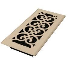 Decorative Grates Registers Decor Grates 4 In X 10 In Steel Floor Register In Ivory Fs410 Al