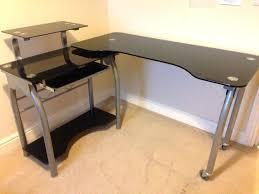 corner computer desk glass image of black hard walker edison premium soreno corner computer desk glass
