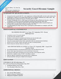 Examples Of Summary Qualifications For Resume 5 Security Guard