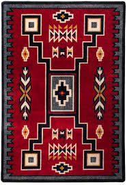 old crow red rug