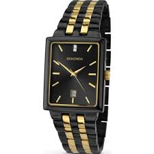 sekonda classic black dial 2 tone gold black bracelet mens watch sekonda classic black dial 2 tone bracelet mens watch 1045